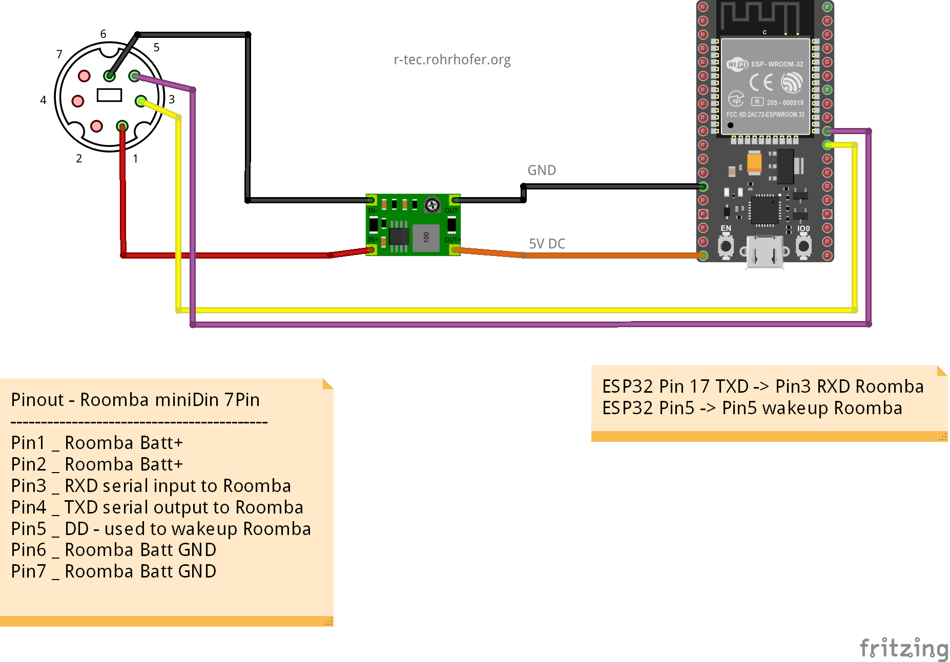 iRobot-Roomba www starter (ESP32/Arduino)